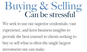 Buying &amp; Selling Can be stressful